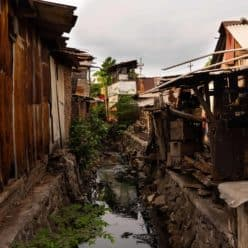 Slum housing in third world country.