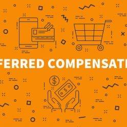 Orange sign depicting deferred compensation.