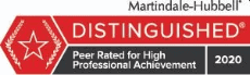 Martindale-Hubbell Distinguished rating for Carl O. Graham