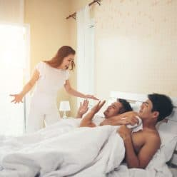 Woman Catches Husband in Bed With Another Man